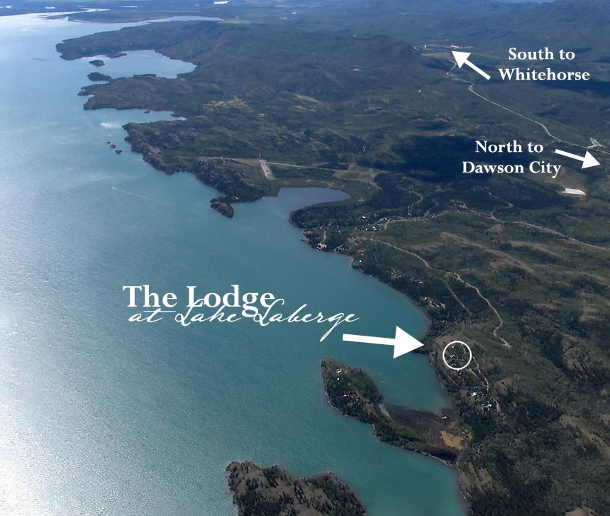 Location of Lodge at Lake Laberge